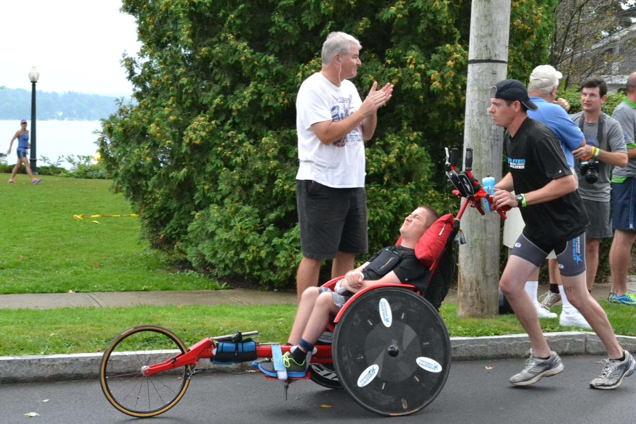 Disabled youth compete in Skinnyman triathlon