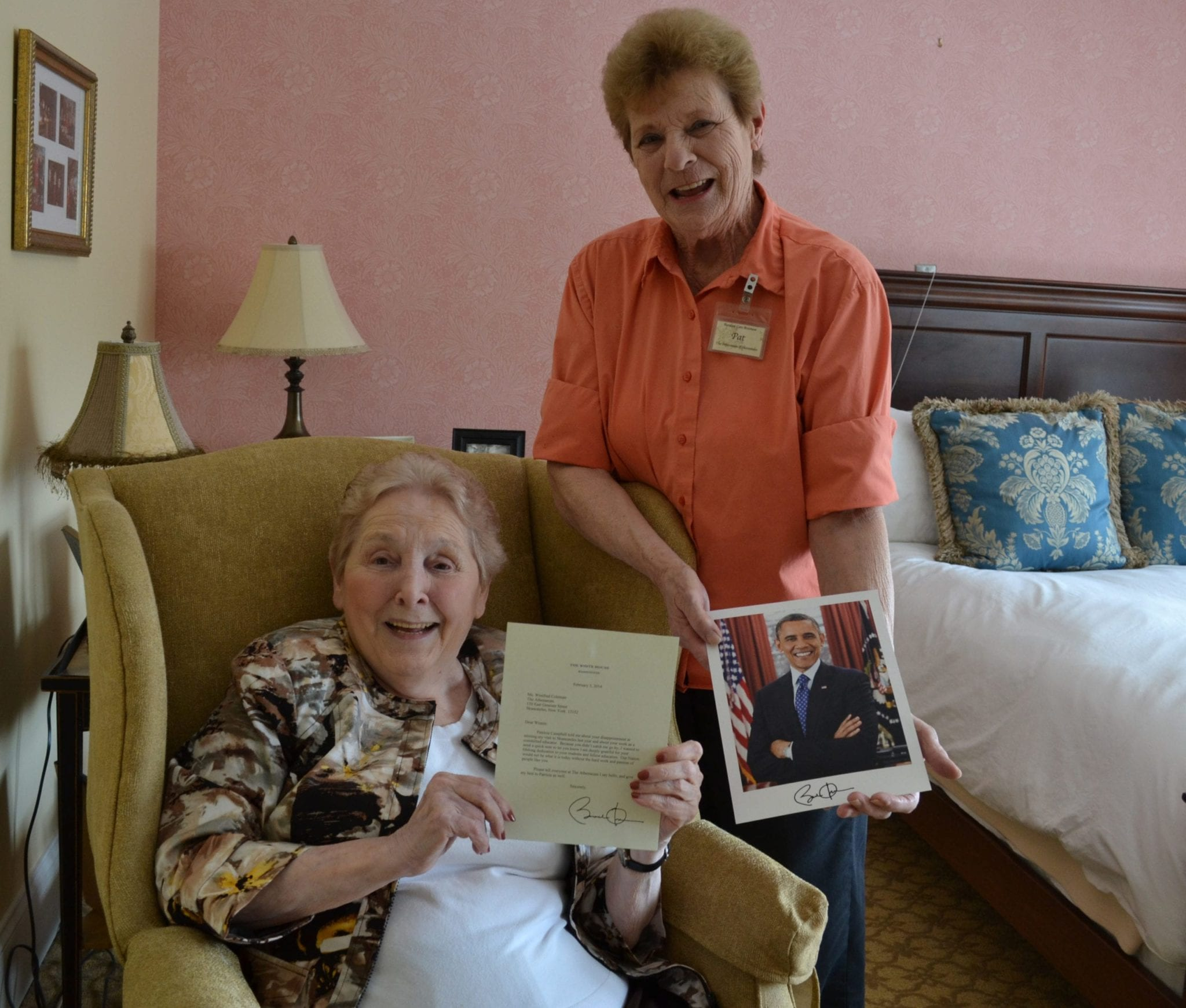After missing his visit, Skaneateles woman receives signed letter from President Obama