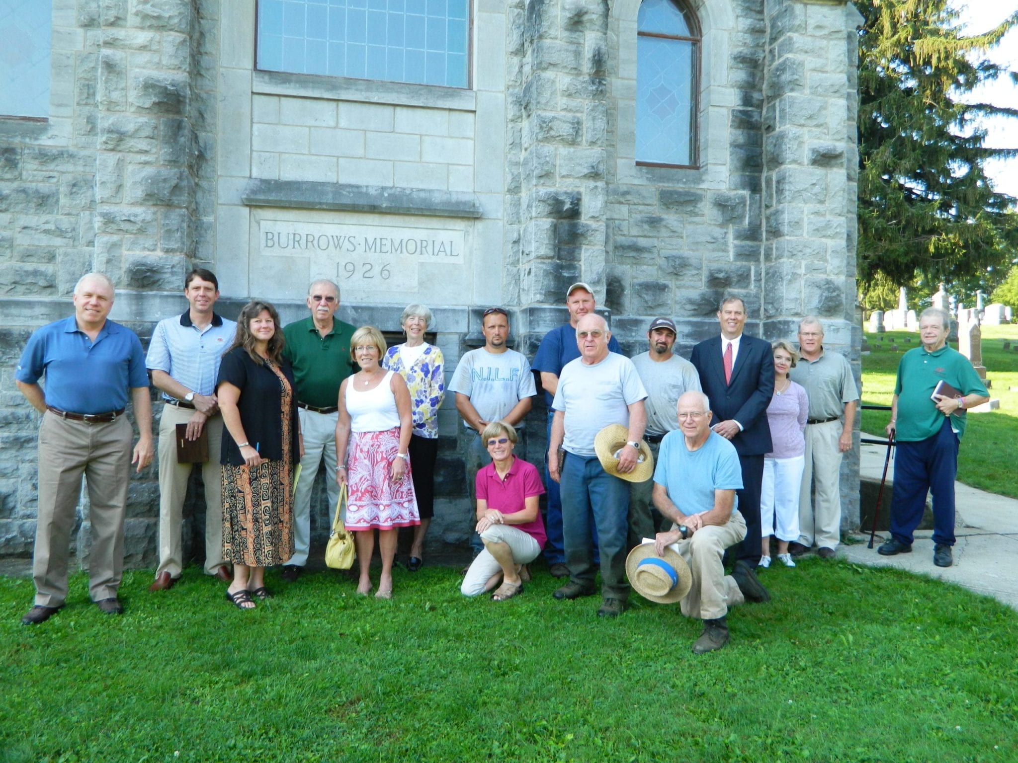 Burrows Chapel renovated roof dedicated