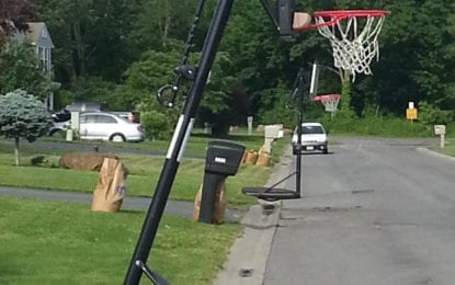 Fire departments ask residents to keep basketball hoops out of roadway