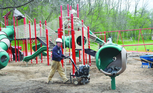 PTO, volunteers make new playground a reality