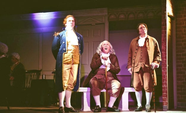 Theater Review: CNY Playhouse stages a riveting '1776' starring Bob Brown as an agitating John Adams