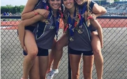 Girls Lakers medal at state track meet
