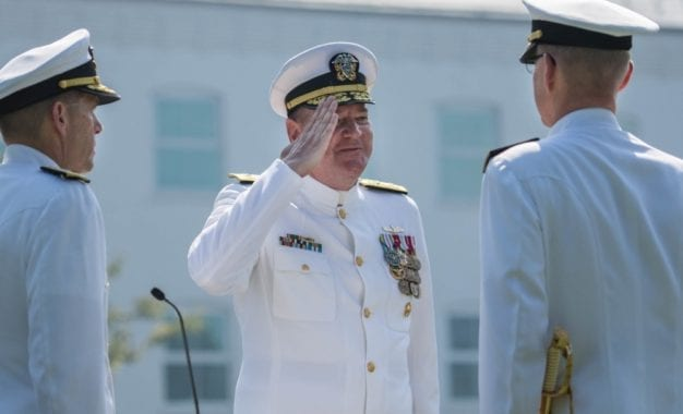Baker alum promoted to rear admiral