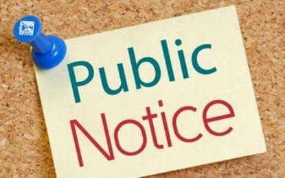 PUBLIC NOTICE VILLAGE OF CAZENOVIA