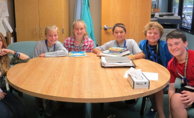 Middle school names student leaders