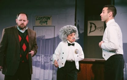 Theater Review: Skiffle Scuffle — Actors Josh Mele and Binaifer Dabu shine in CNY Playhouse production of upbeat British farce