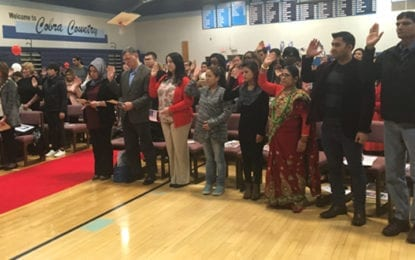 Bishop Grimes students welcome new citizens at naturalization ceremony
