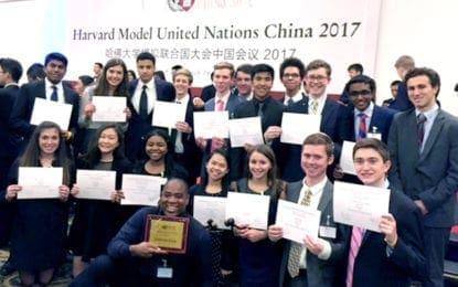 MPH's Model UN Team wins at China Conference
