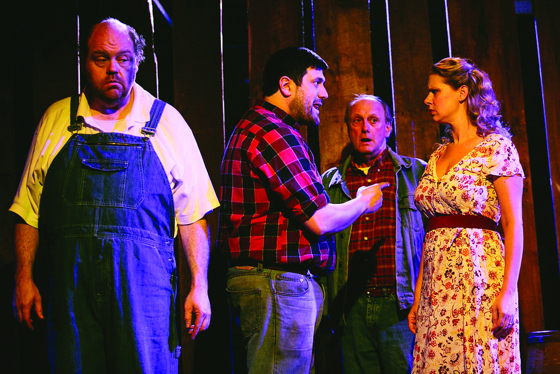 Theater review: 'Tell about the rabbits, George' –  Steinbeck's ranch-hand tragedy unfolds at ShoppingTown's CNY Playhouse