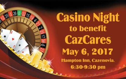 Casino Night fundraiser to support local food pantry and clothing closet