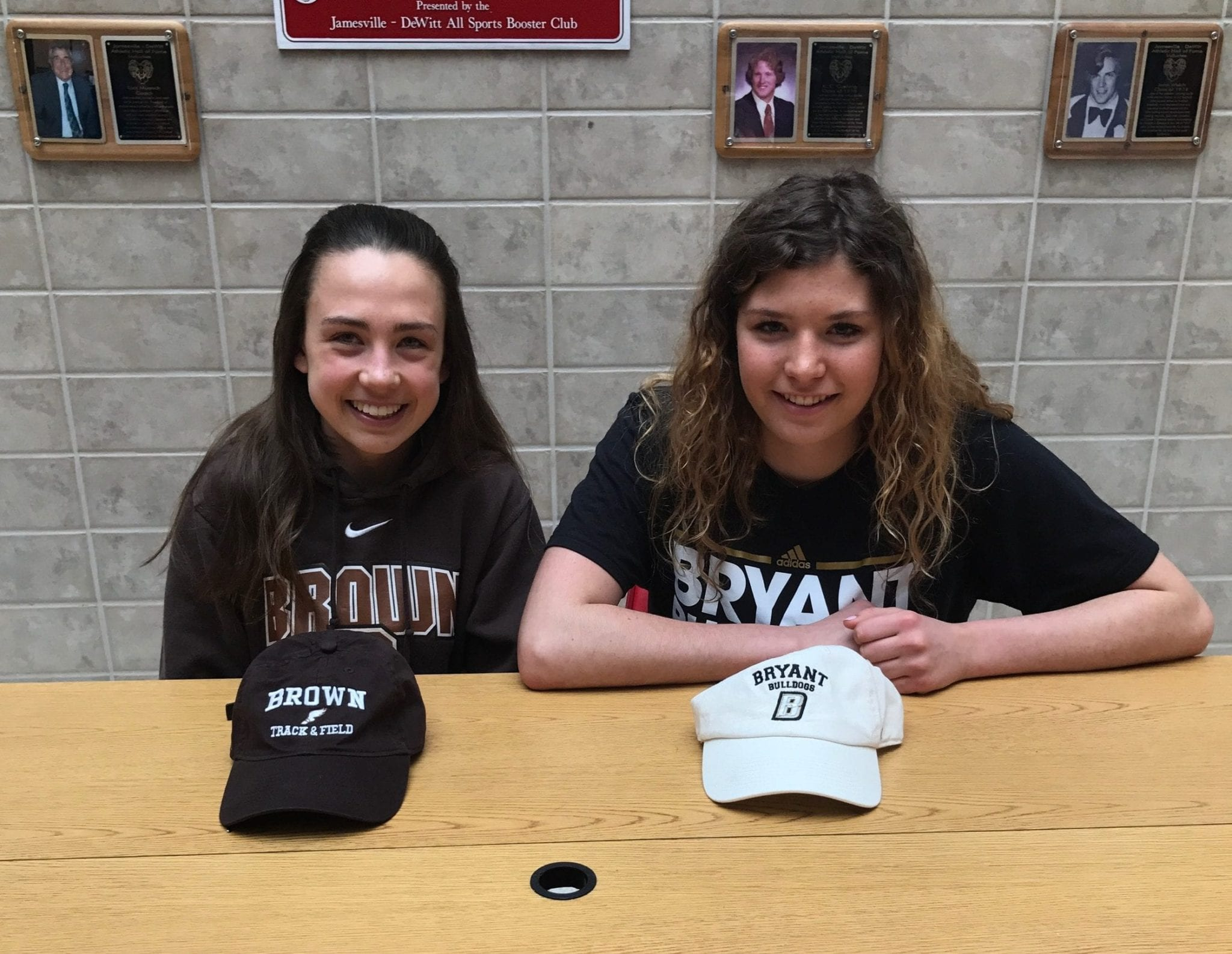 Two J-D student-athletes sign letters of intent