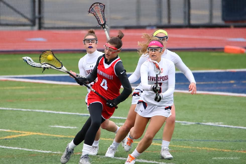 B'ville girls lacrosse tops Liverpool, falls to F-M
