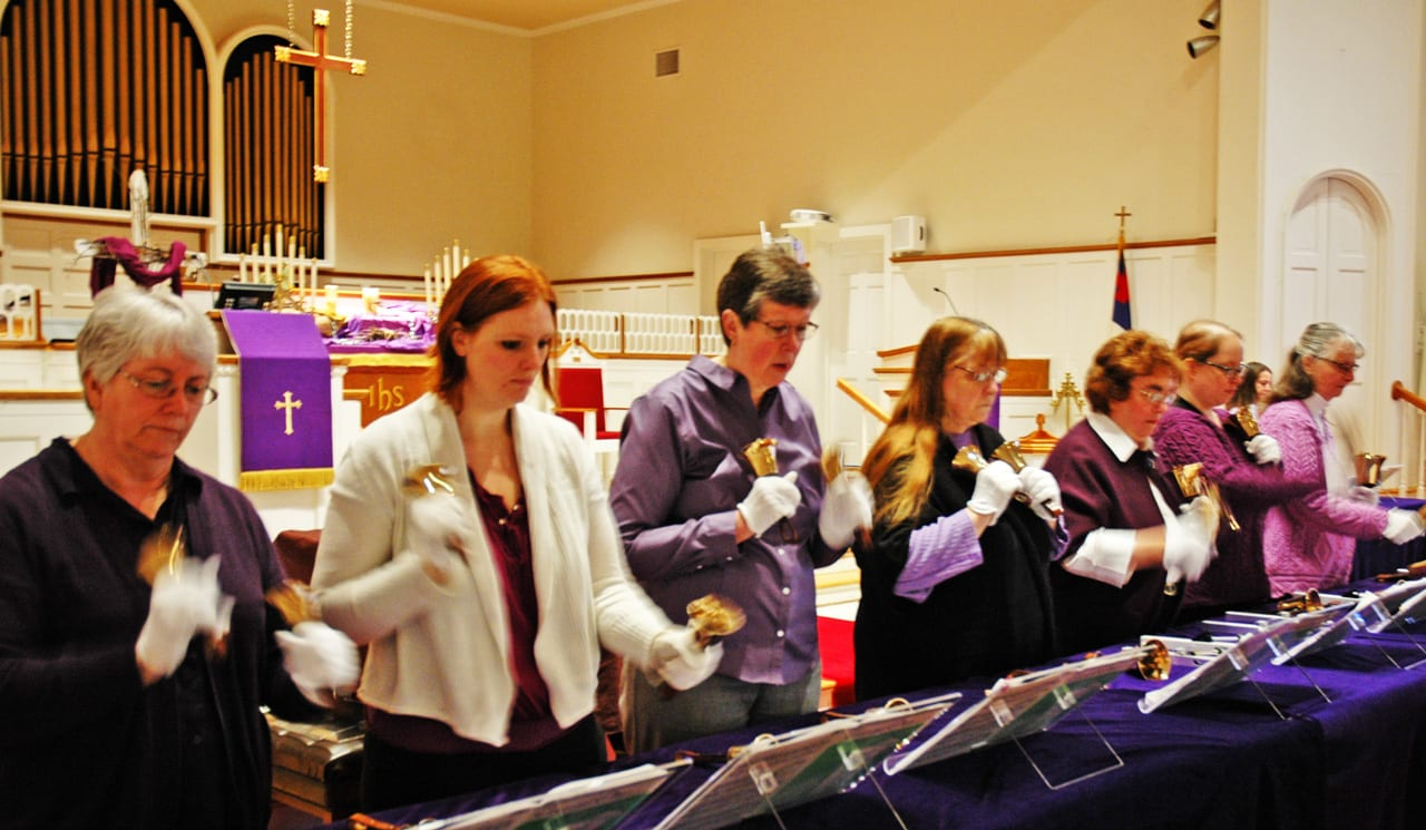 Handbells ring for world harmony