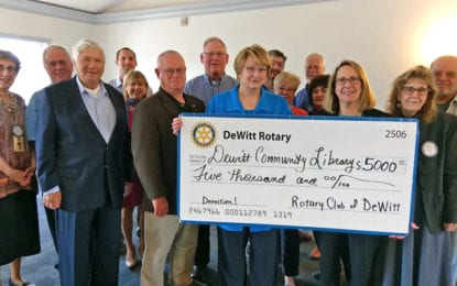 DeWitt Rotary donates to new library building
