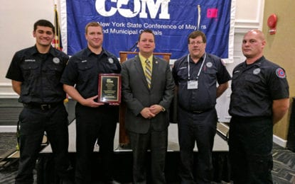 East Syracuse Fire Department receives NYCOM award for bunk-in program