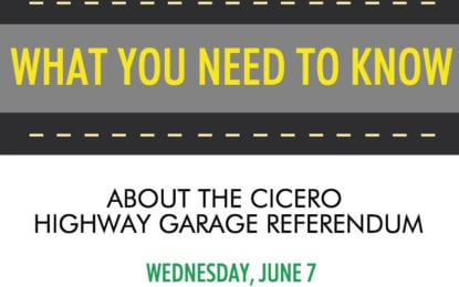 Cicero highway garage referendum is June 7