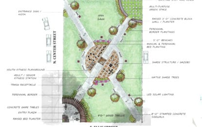Conceptual designs for N. Center Street park project in East Syracuse presented