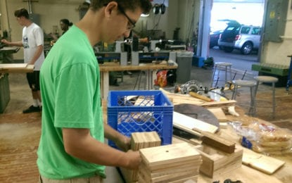 High school students collaborate on manufacturing project