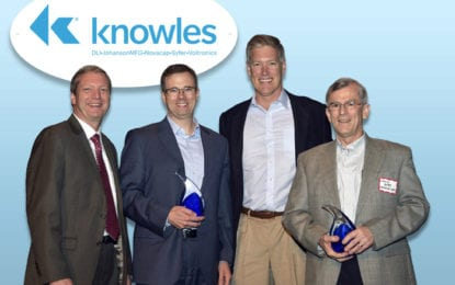 'Innovator of the Year' awarded to Tim Brauner and David Bates of Knowles Capacitors