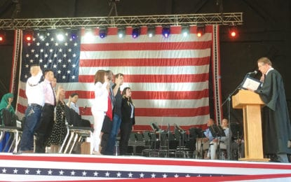 Twenty-five new Americans take oath of citizenship on Independence Day