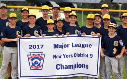 Cazenovia Little League captures 2017 major league district 9 championship