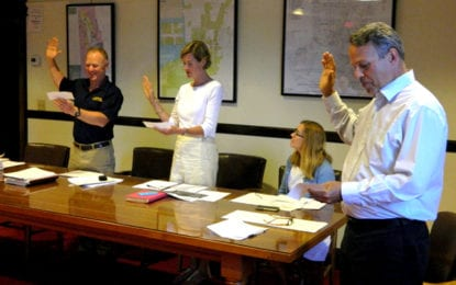 Village board swears in elected members, makes annual appointments