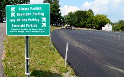 Creekside municipal parking lot paved