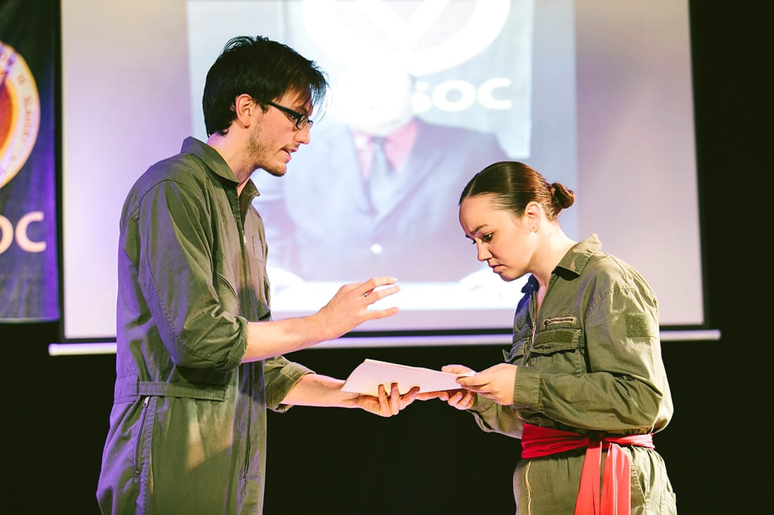 Theater review: Thought Police rule! CNY Playhouse presents stage version of George Orwell's novel, '1984'