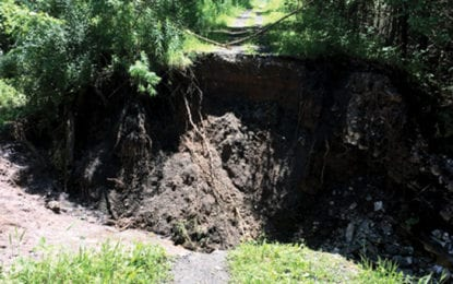 Gorge Trail washout to cost $20K to repair