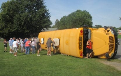 Bus drivers attend interactive rollover training