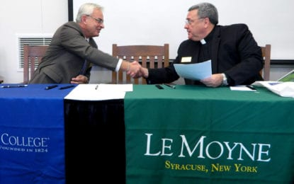 Cazenovia College, Le Moyne College sign agreement for M.S. in Arts Administration